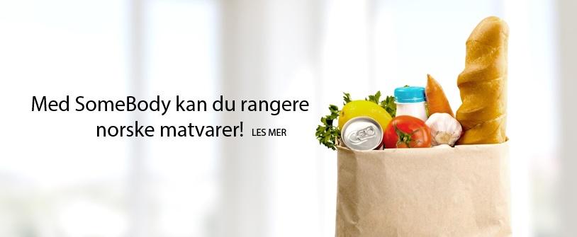 Med SomeBody kan du rangere norske matvarer!